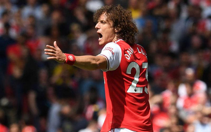 Gelandang Arsenal David Luiz. - Arsenal.com