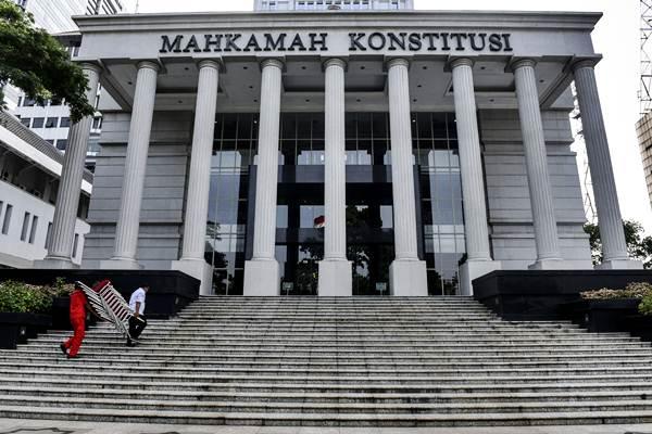 Gedung Mahkamah Konstitusi, Jakarta, Jumat (24/2). - Antara/Hafidz Mubarak A.