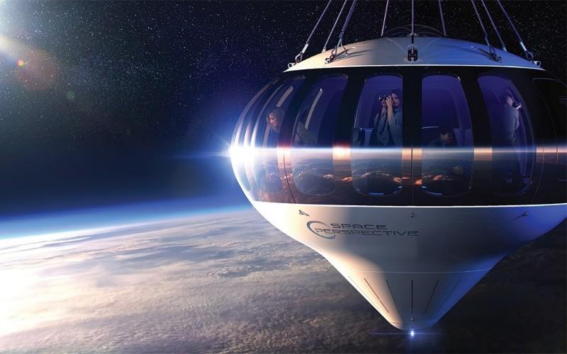 Ilustrasi balon udara - space perspective