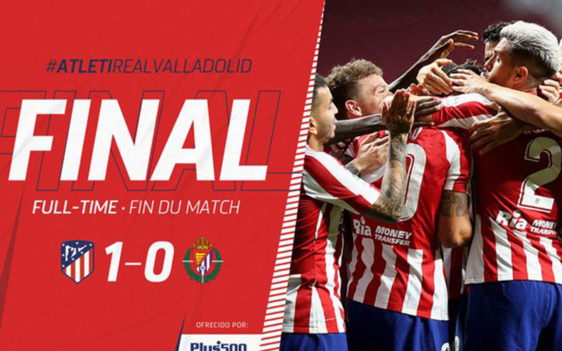 Atletico Madrid 1, Real Valladolid 0. - Twitter@atletienglish