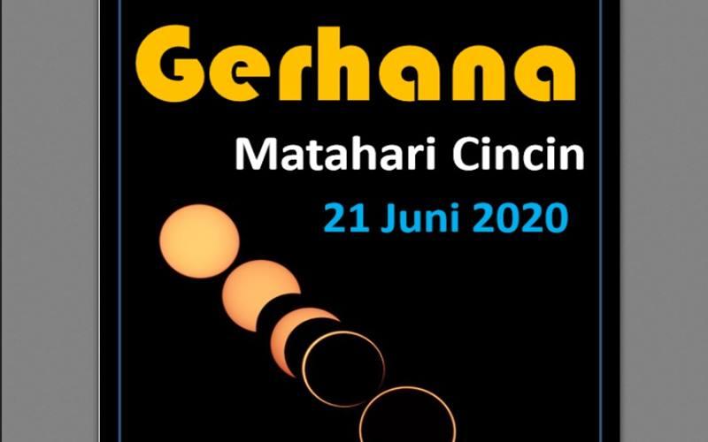 Gerhana Matahari Cincin 21 Juni 2020. - BMKG