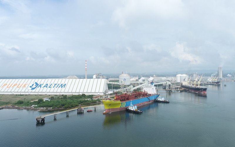 Pupuk Kaltim Ekspor 5.000 MT Amoniak ke Filipina. - JIBI/Istimewa