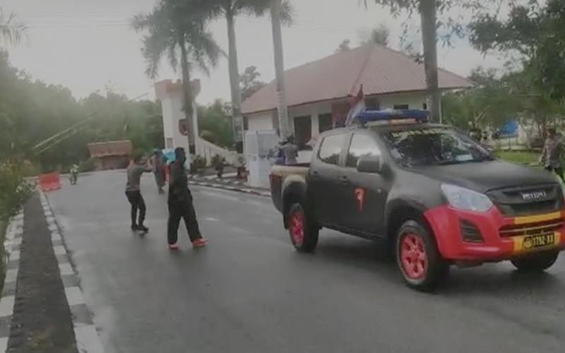 Suasana Mako Brimob Polda Sulawesi Tenggara pada Sabtu (20/6/2020). - Istimewa