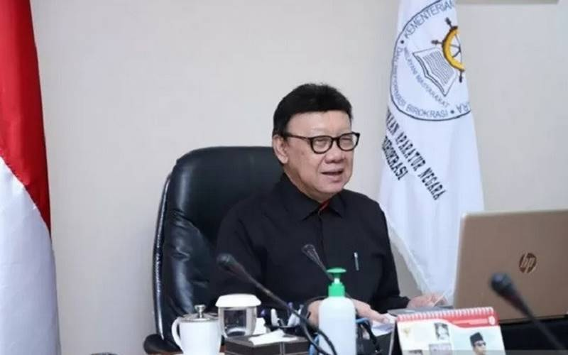 Menteri Pendayagunaan Aparatur Negara dan Reformasi Birokrasi (Menpan-RB) Tjahjo Kumolo. - Antara