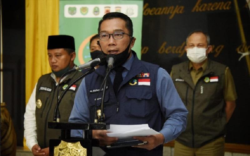 Gubernur Jabar yang juga Ketua Gugus Tugas Percepatan Penanggulangan Covid/19 Jawa Barat Ridwan Kamil