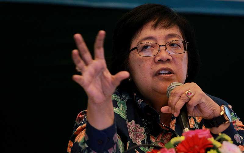 Menteri Lingkungan Hidup dan Kehutanan Siti Nurbaya. Dok. Bisnis Indonesia