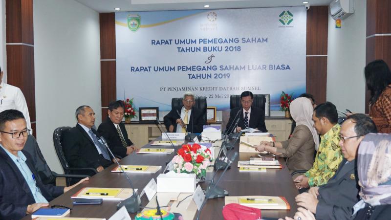 Suasana Rapat Umum Pemegang Saham Luar Biasa (RUPSLB) PT Penjaminan Kredit Daerah (Jamkrida) Sumatra Selatan (Sumsel) di Palembang, Sumsel, Rabu (22/5/2019). - Istimewa