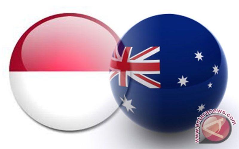 Logo bendera negara Indonesia dan Australia. / Dok. Antara