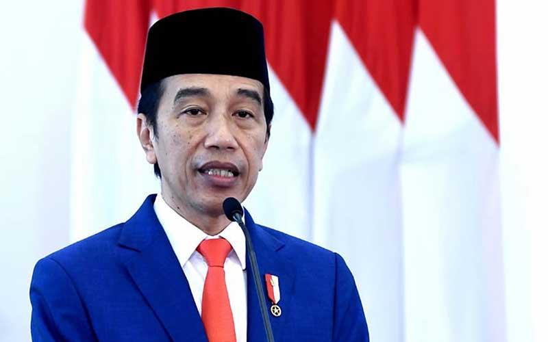 Presiden Joko Widodo memberikan amanat saat memimpin upacara peringatan Hari Lahir Pancasila secara virtual di Istana Bogor, Jawa Barat, Senin (1/6/2020). Upacara secara virtual itu dilakukan karena pandemi COVID-19. ANTARA FOTO/BPMI Setpres - Handout