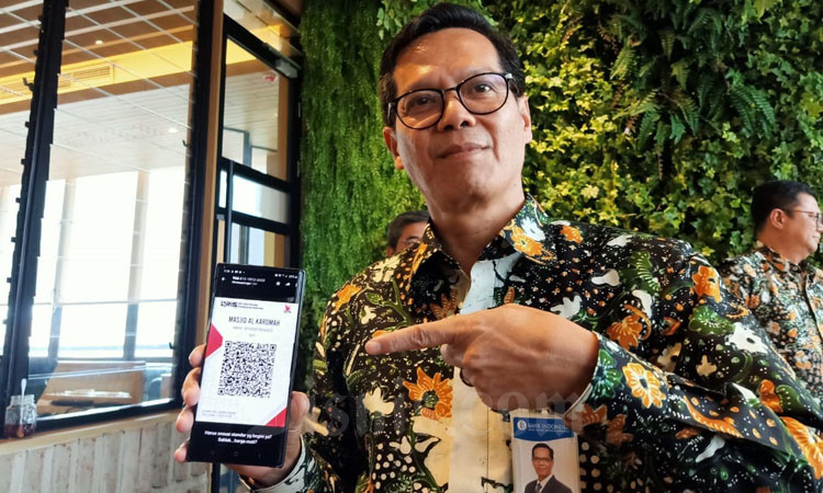 QR Code Indonesian Standard atau QRIS. - Bisnis/Alif Nazzala Rizqi