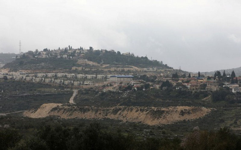Permukiman Israel Kedumim dekat Nablus di wilayah pendudukan Israel, Tepi Barat, Selasa (25/2/2020)./Antara - Reuters