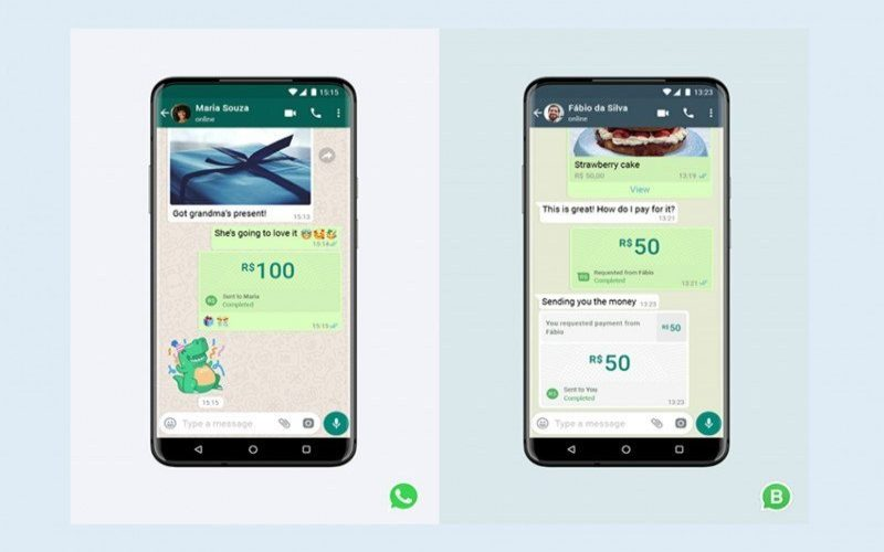 Fitur pembayaran dan kirim uang sudah tersedia bagi pengguna WhatsApp di Brazil mulai 15 Juni 2002. - Antara / WhatsApp