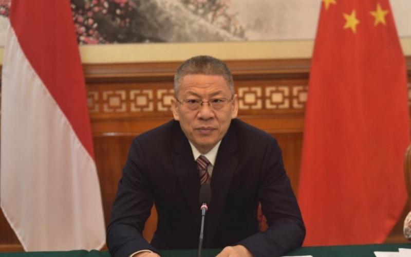 Konselor bidang ekonomi dan perdagangan Kedubes China, Wang Liping, dalam konferensi pers yang digelar di Jakarta, Rabu (24/6/2020)/Antara - HO/Kedutaan Besar China Jakarta