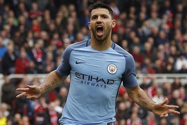 Striker Manchester City Sergio Aguero - Reuters/Lee Smith