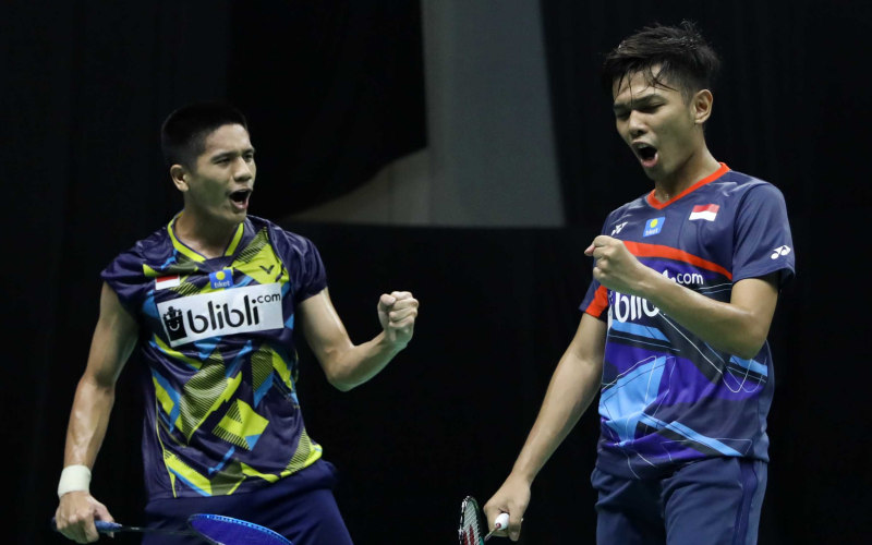 Ganda putra Fajar Alfian-Yeremia Erich - Badminton Indonesia