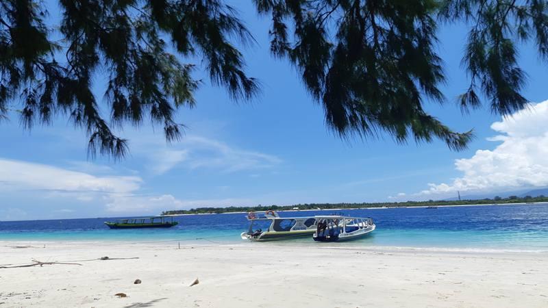 Pesona alam Gili Trawangan, Lombok, Nusa Tenggara Barat. (21/2/2019). - Bisnis/ Tika Anggreni