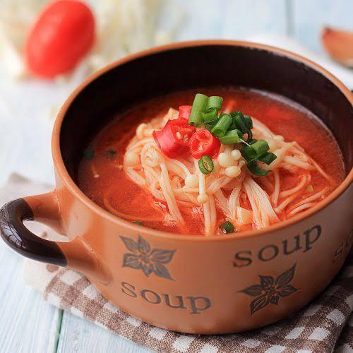 Sup enoki pedas - istimewa