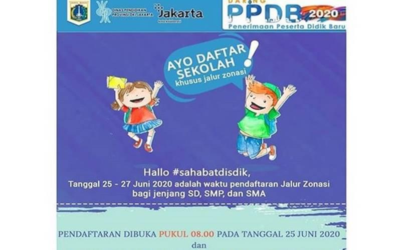 Disdik DKI membuka PPDB jalur zonasi  mulai hari ini. - Instagram @disdikdki