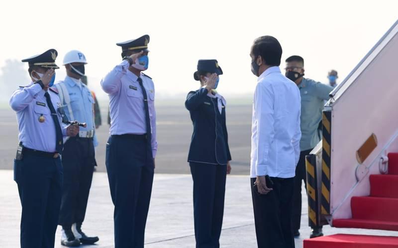 Presiden Joko Widodo berangkat dari Pangkalan TNI AU Halim Perdanakusuma, Kamis (25/6/2020), untuk melakukan kunjungan kerja ke Jawa Timur. - Istimewa