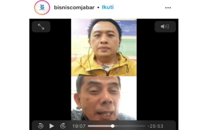 Live Instagram Bisnis Indonesia Perwakilan Jawa Barat bersama Wali Kota Cimahi Ajay Priatna