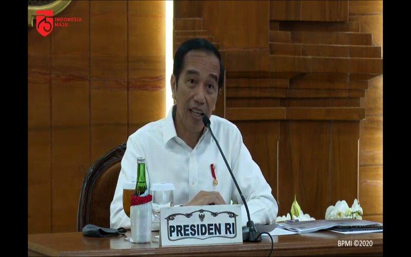 Presiden Joko Widodo di Gedung Grahadi, Surabaya, Jawa Timur. - Istimewa