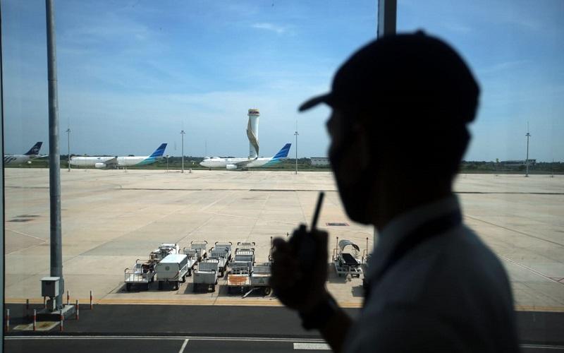 Suasana di Bandara Kertajati Majalengka - Bisnis/Rachman