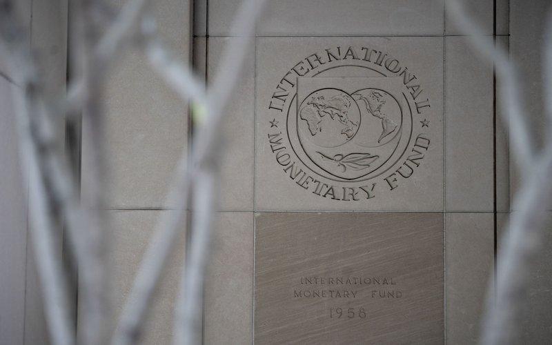Kantor pusat Dana Moneter Internasional (IMF) di Washington D.C., AS -  Bloomberg / Andrew Harrer