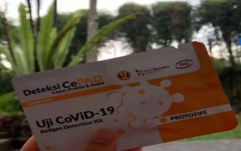 Rapid test virus corona buatan Unpad diberi nama Deteksi CePAD. - Instagram @ridwankamil
