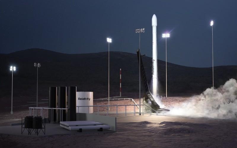 Hasil render roket Terrain 1 milik Relative Space. - Relative Space
