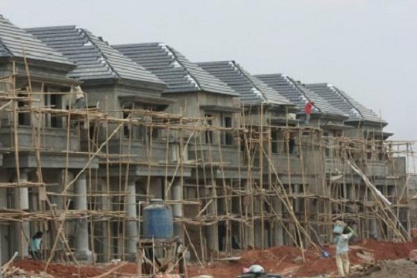 Pembangunan klaster perumahan di kawasan Depok. - Ilustrasi/Bisnis