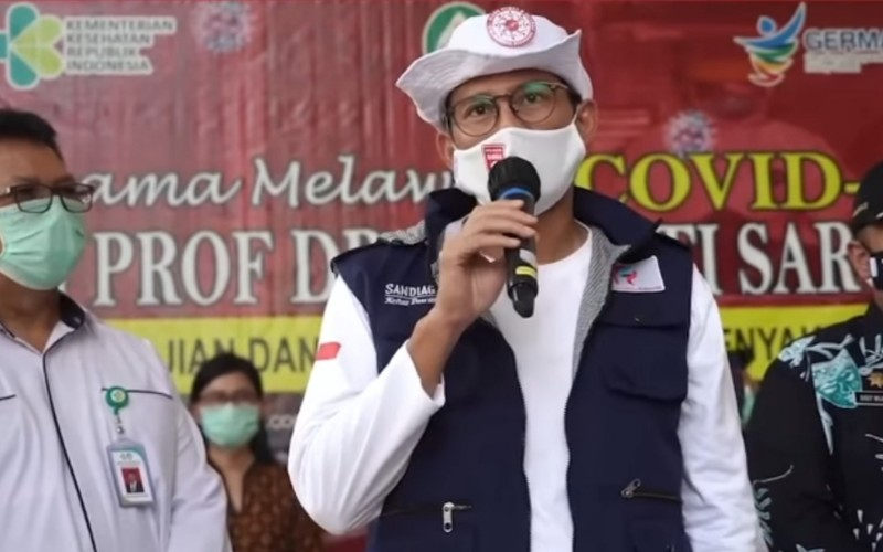 Ketua Relawan Indonesia Bersatu Lawan Covid/19 Sandiaga Uno