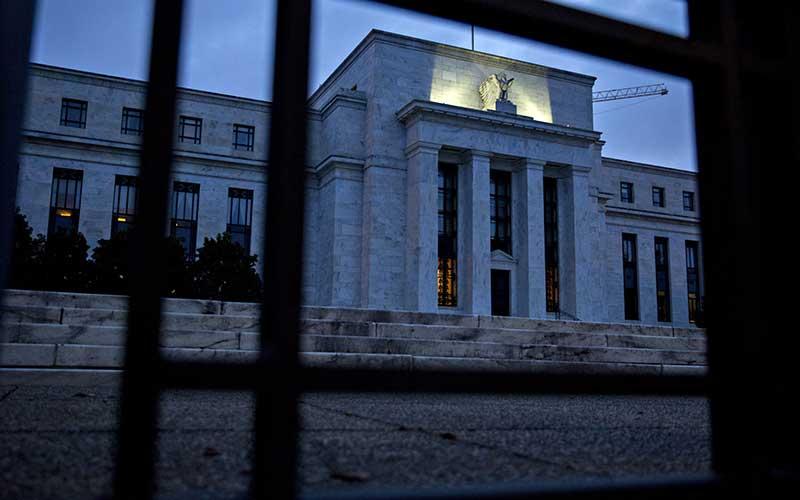 Gedung bank central Amerika Serikat atau The Federal Reserve di Washington, Amerika Serikat, Senin (13/8/2018). Bloomberg - Andrew Harrer