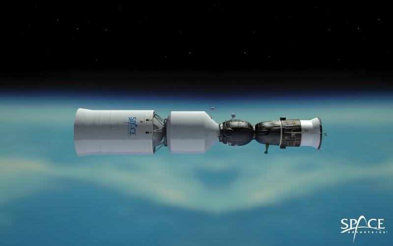 Kapsul Space Adventures yang dipasang di Soyuz - Space Adventures