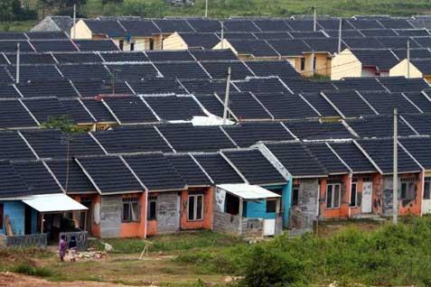 Rumah bersubsidi di salah satu lokasi di Jawa  Barat. - Bisnis