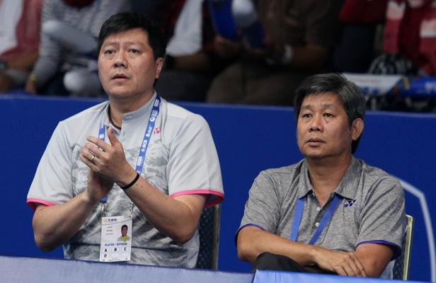 Pelatih ganda putra bulu tangkis Indonesia, Herry IP dan Iman Pierngadi - Badminton Indonesia