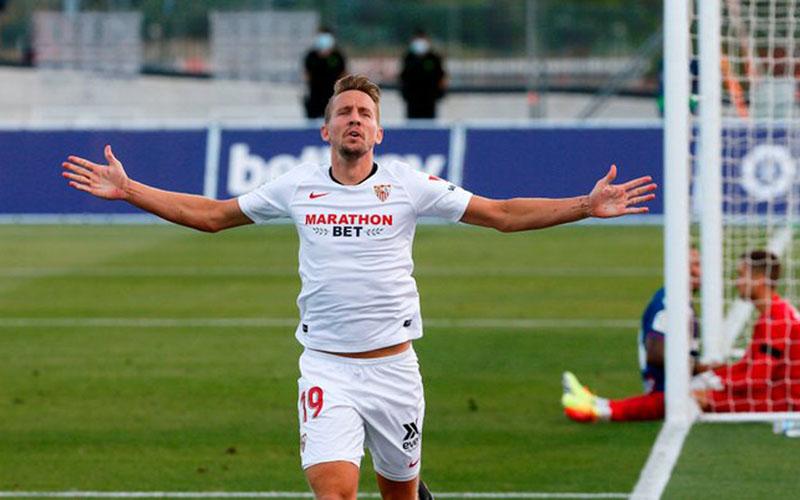Penyerang Sevilla Luuk de Jong - Twitter@LaLigaEN