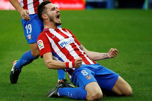 Gelandang Atletico Madrid Saul Niguez/Reuters - Sergio Perez