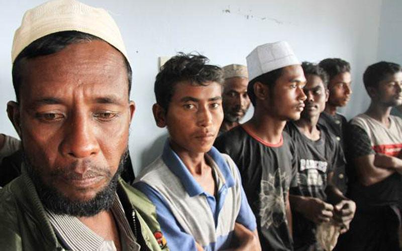 Pengungsi etnis Rohingya di Aceh./Antara - Syifa Yulinnas