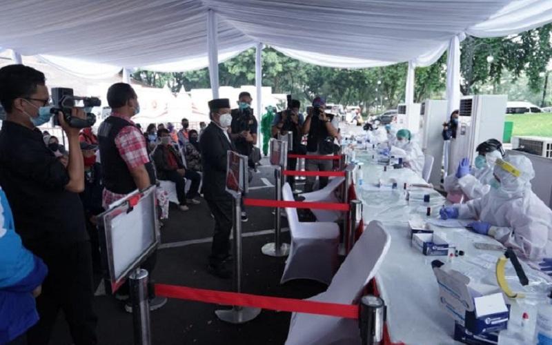 Rapid test yang digelar Badan Intilijen Negara (BIN) di Kota Bandung - Istimewa
