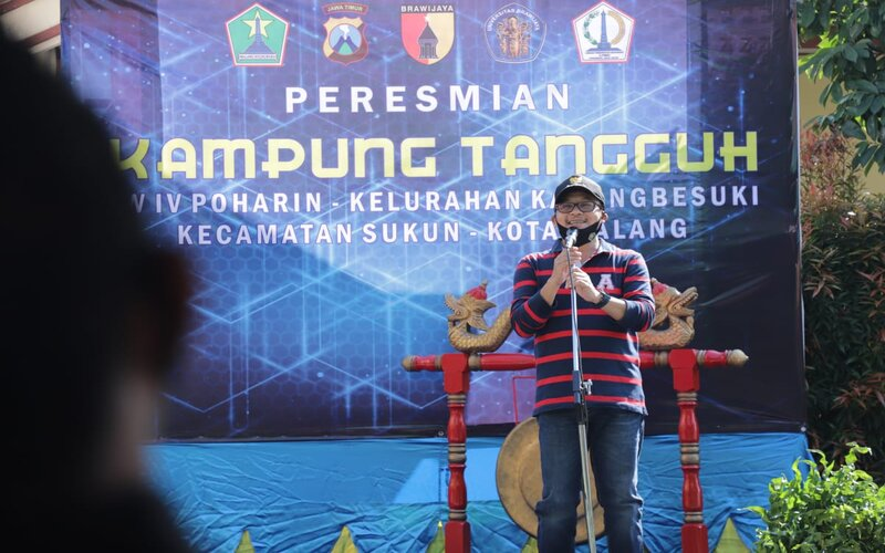 Wali Kota Malang Sutiaji saat meresmikan Kampung Tangguh Edukasi Jl Sigura-gura, Minggu (28/6/2020). - Istimewa
