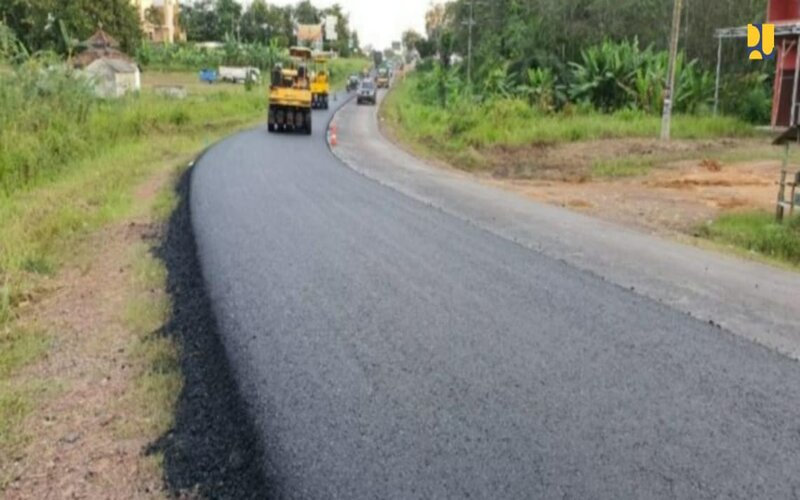 Pembangunan Jalan Lintas Timur Sumatra Selatan. (Foto: Kementerian PUPR)