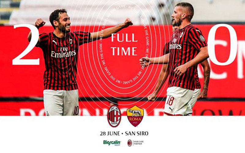 AC Milan 2, AS Roma 0 - Twitter@acmilan