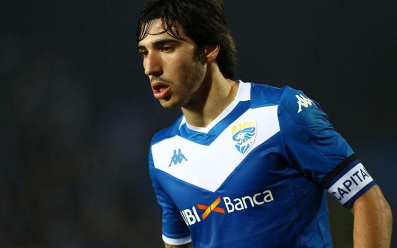 Gelandang Brescia Sandro Tonali. - Sempre Inter