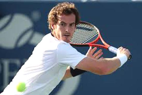 Ilustrasi/Petenis Andy Murray bermain di Wimbledon