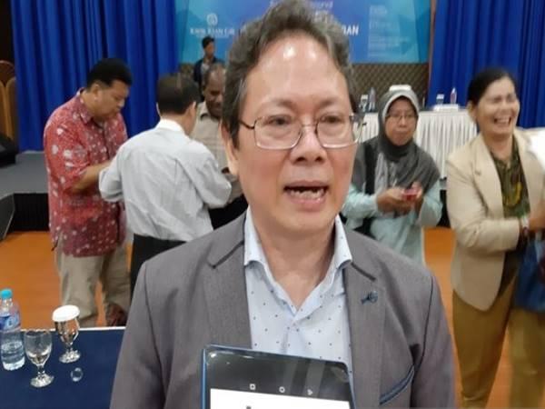 Direktur Pelaksana Political Economy and Policy Studies Anthony Budiawan di Jakarta, Kamis (7/2/2019). - Antara