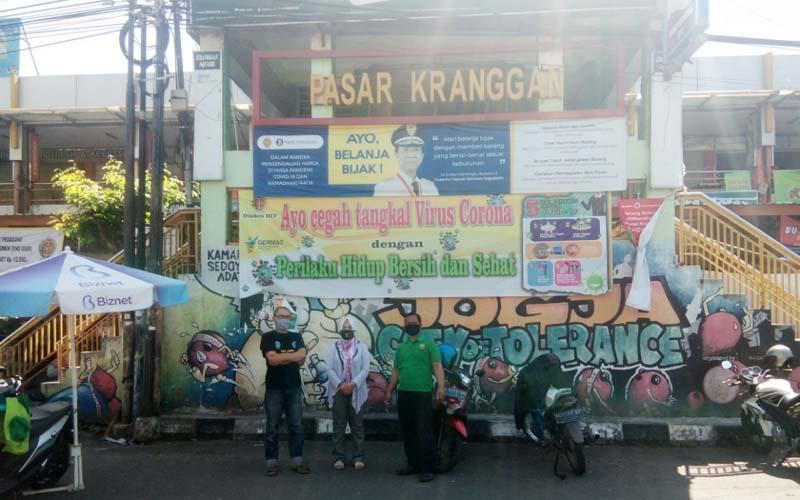 Pasar Kranggan tampak depan, Selasa (30/6/2020). - Ist/Dok Paguyuban Pedagang Pasar Kranggan