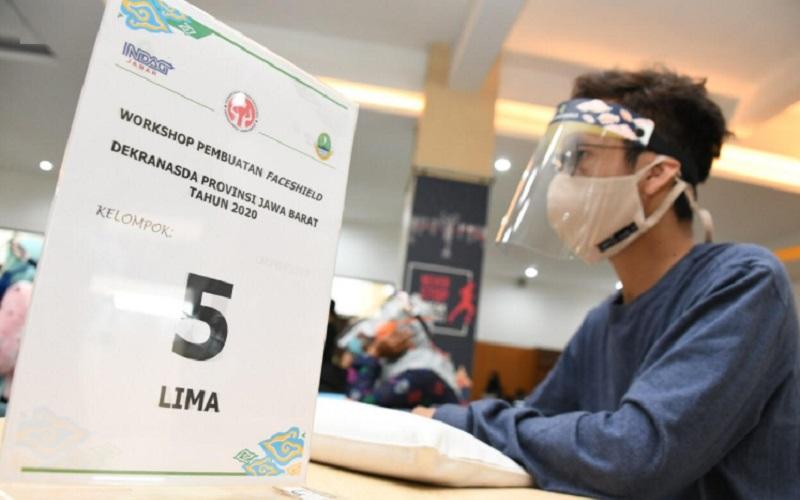 Indag Jabar menginisiasi workshop pembuatan alat medis, salah satunya faceshield atau pelindung wajah - Istimewa