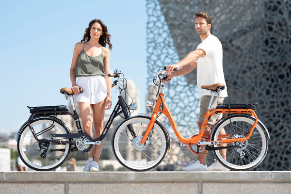 Ilustrasi pengguna sepeda. - PEUGEOT