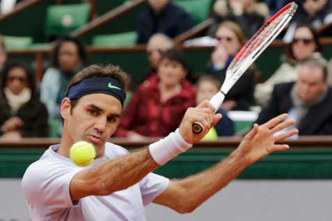 Ilustrasi Federer di Wimbledon