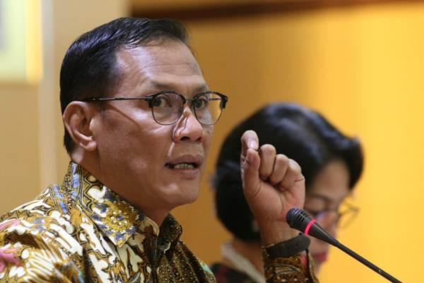 Kepala Badan Pusat Statistik (BPS) Suhariyanto memberikan penjelasan mengenai inflasi Juni 2018 di Jakarta, Senin (2/7/2018). - JIBI/Dedi Gunawan